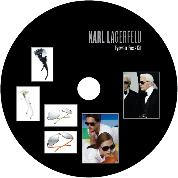 Karl Lagerfield Press Kit CD Label