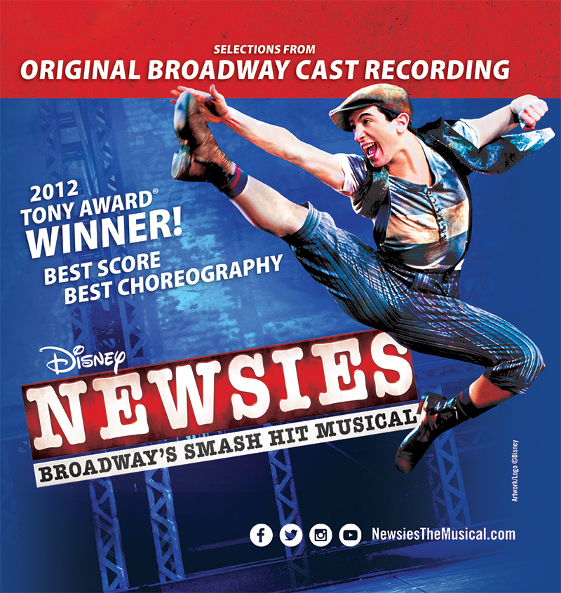 CD Sleeve for the original broadway cast recording of Disney's 'Newsies.'
