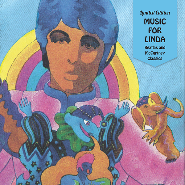 CD sleeve featuring artwork by illustrator Alan Aldridge