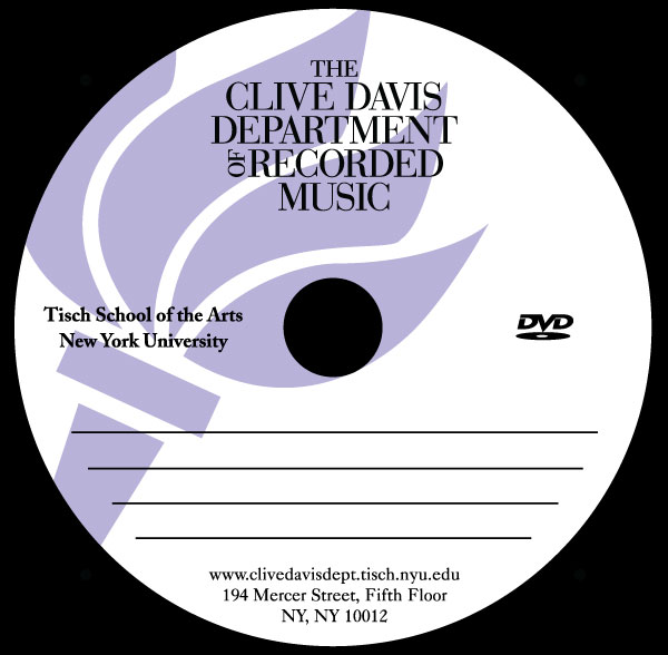 NYU - School of Recorded Music - DVD Label