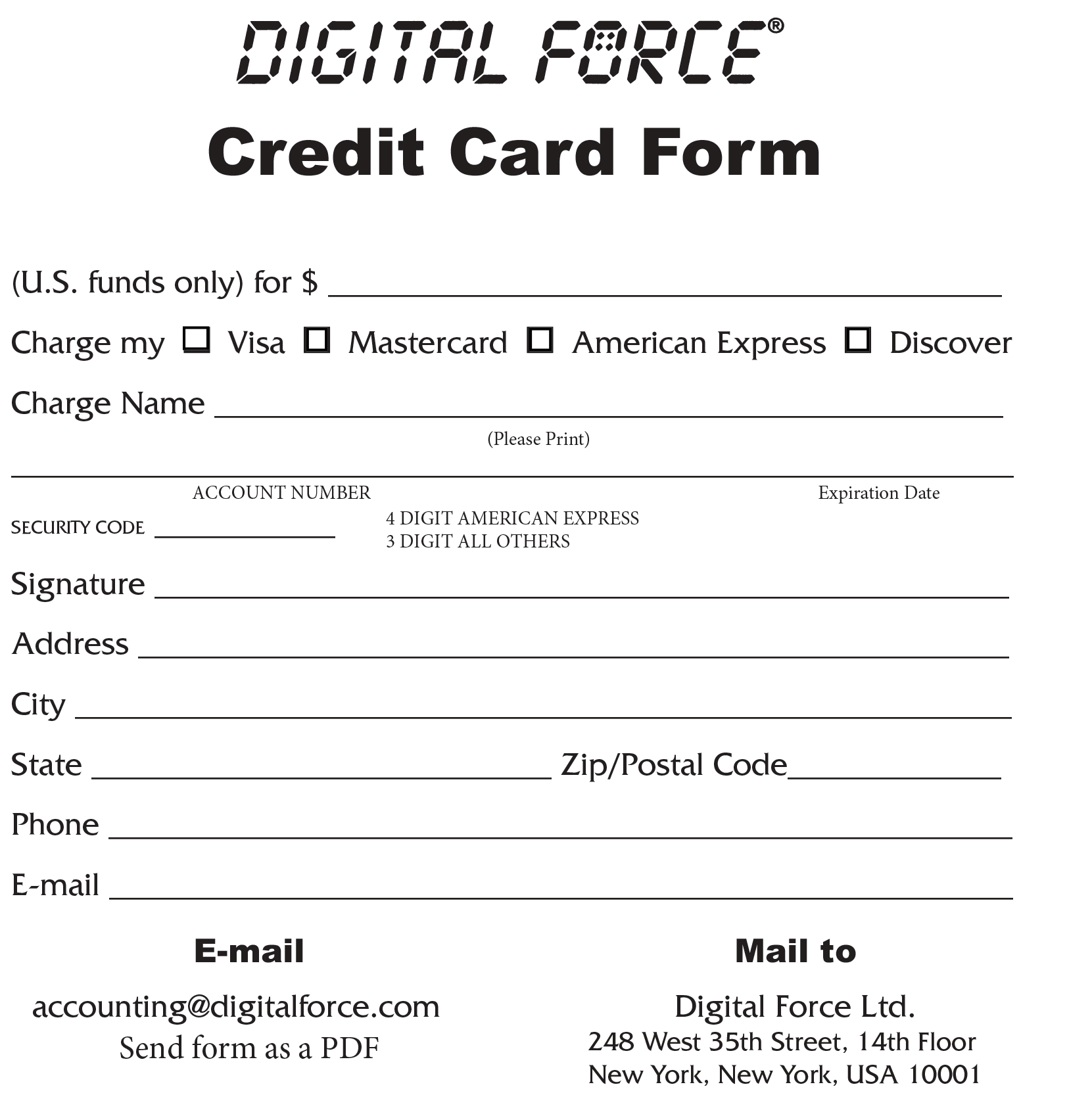 Credit Card OrderForm